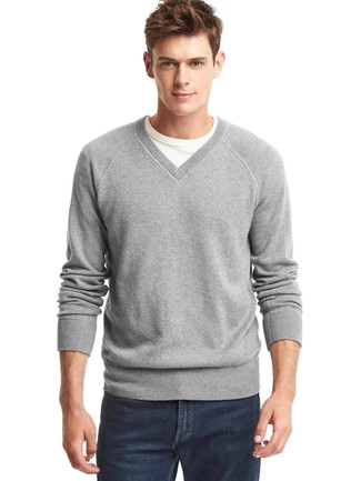 Long Sleeved V Neck Sweater