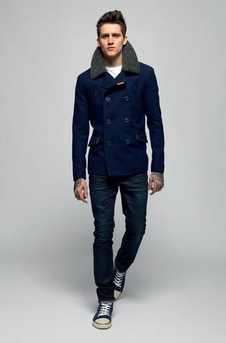 Twill Pea Coat