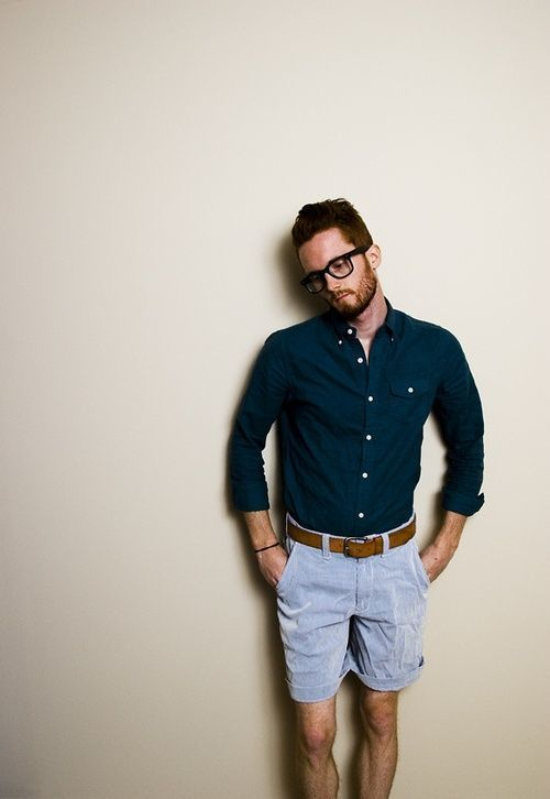 How to Wear Light Blue Shorts (50 looks) | Men's Fashion