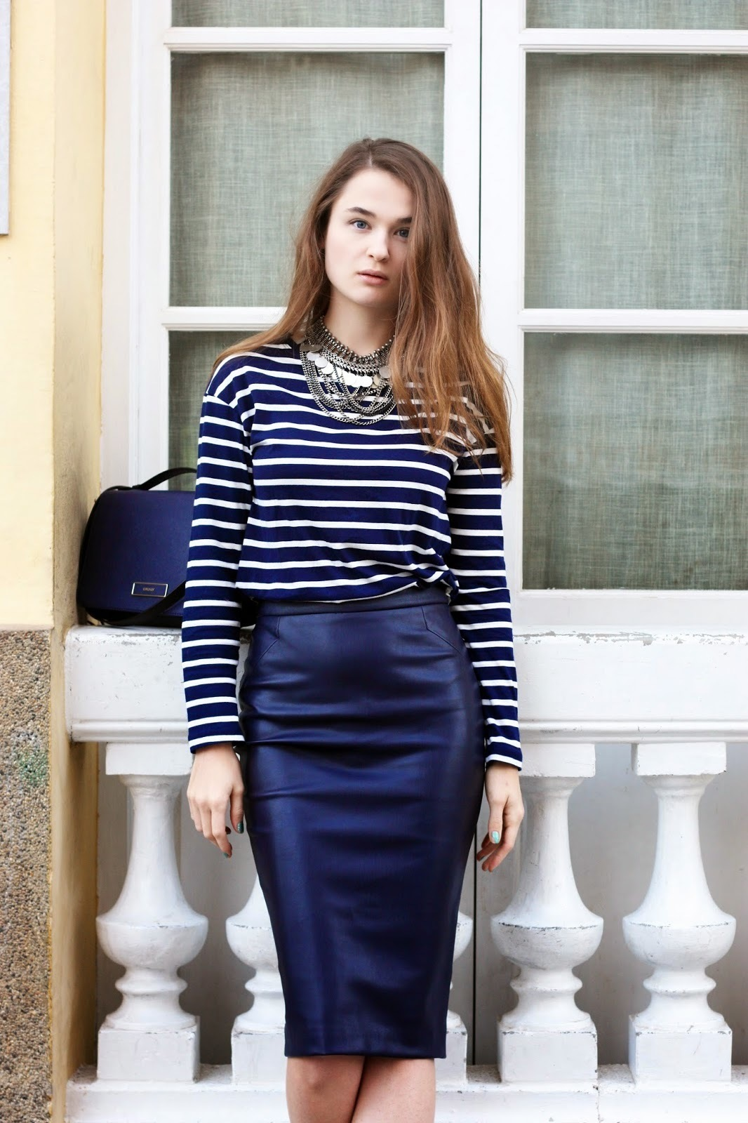 Long blue pencil skirt – Modern skirts blog for you