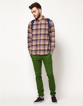 Vintage Check Cotton Flannel Shirt