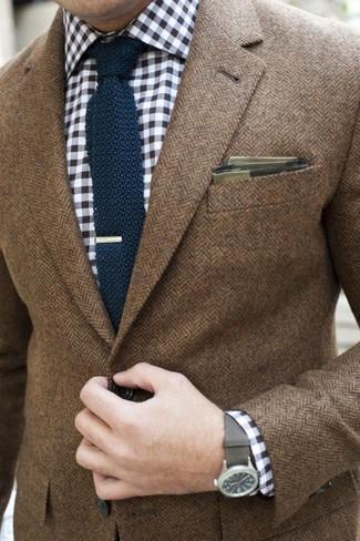 Narrow Knit Silk Tie