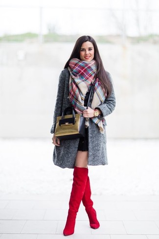 1193a8a4289 How to Wear a White and Red and Navy Plaid Scarf For Women (21 looks ...
