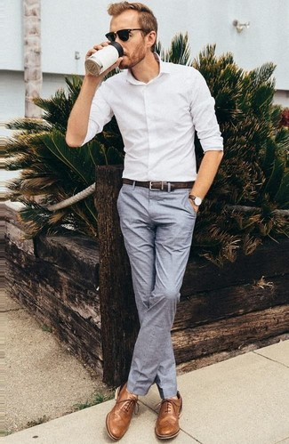 Skinny Suit Trousers In Light Grey Texture