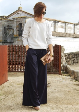 Wide Leg Tied Waist Trousers