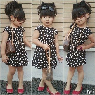 Infant Girls Polka Dot Jersey Dress