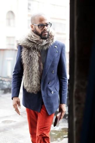 red chinos blue blazer