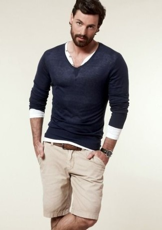 Wool Cashmere V Neck