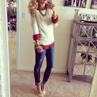 Cable Knit Silk Sweater