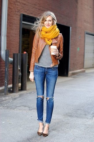How to yellow wear scarf