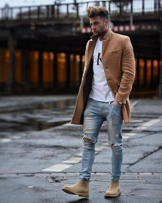 clothes that go with tan chelsea boots men