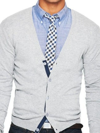 Pima Cotton V Neck Cardigan