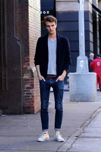 Skinny Jeans In Raw Blue