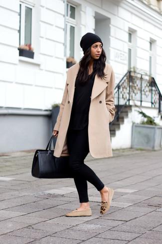 Belted Brushed Cashmere Coat