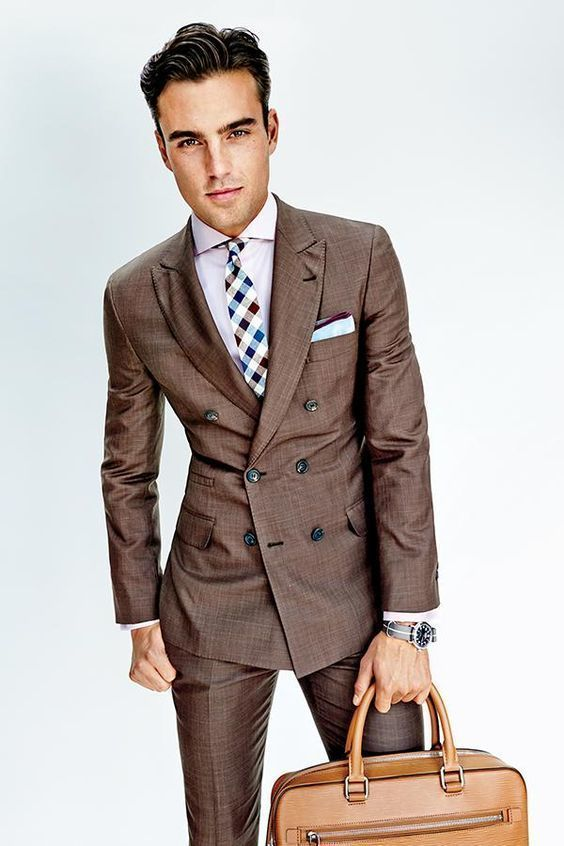 How to Wear a Brown Suit (80 looks) | Men's Fashion