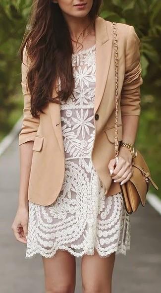 cotton blend twill blazer