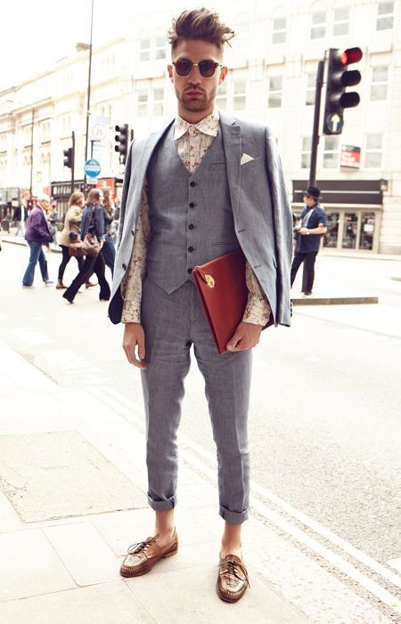 How To Wear a Charcoal Suit With Tobacco Leather Derby Shoes ...