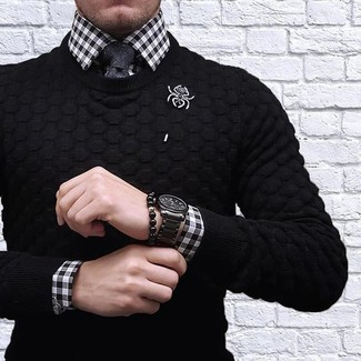 Custom Fit Gingham Dress Shirt
