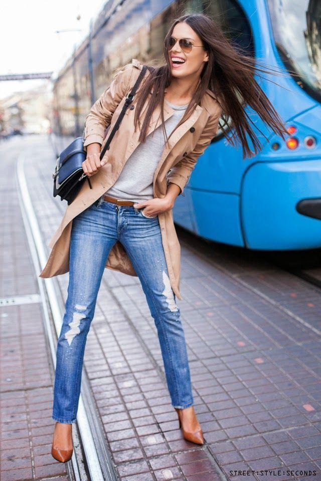 Wear a belt with skinny jeans