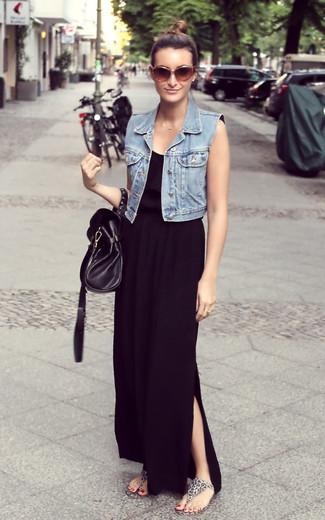 Look vestido largo casual