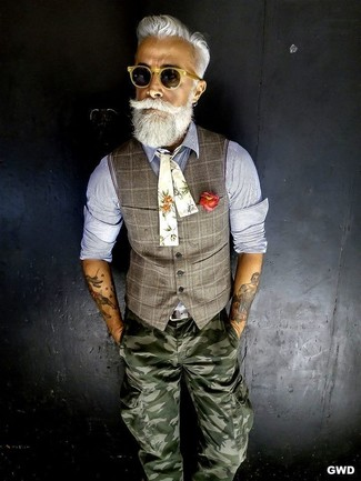 Waistcoat long sleeve shirt cargo pants large 12630