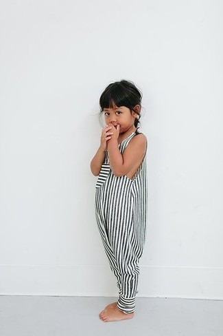 How to wear: white and black striped romper