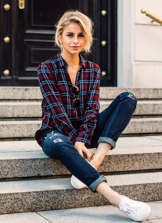 Denim Supply Artemis Plaid Utility Shirt