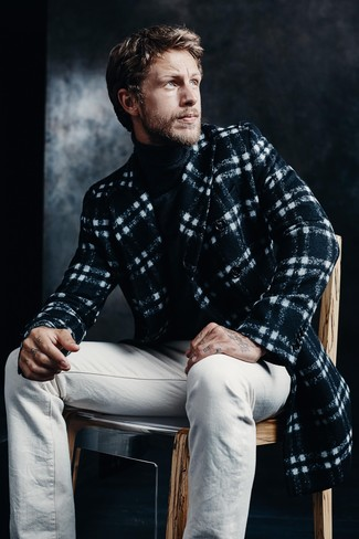 Stitched Chunky Turtleneck Sweater