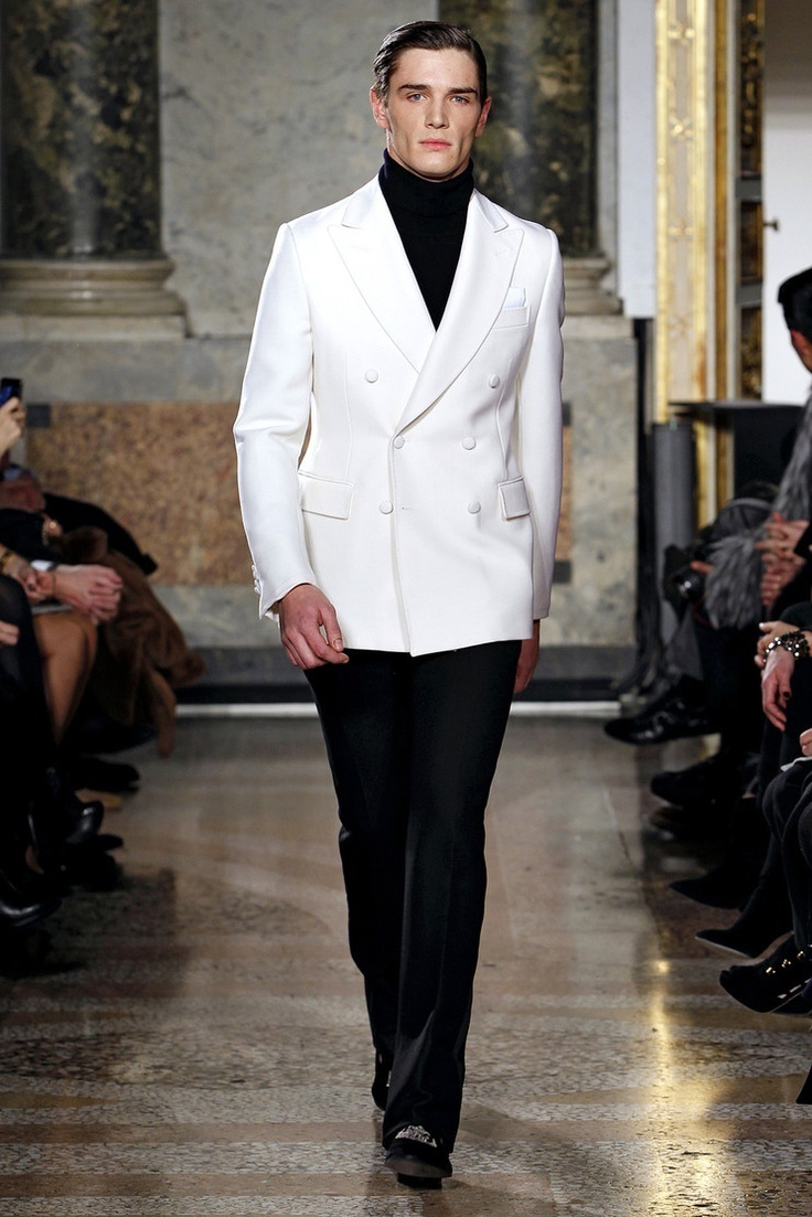 White Double Breasted Blazer | Men's Fashion