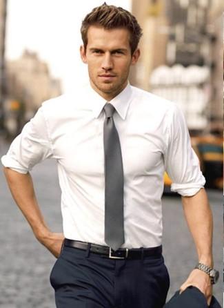 Dark White Shirt