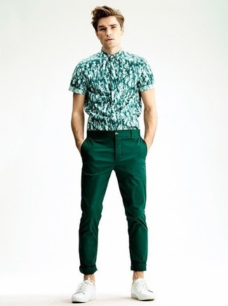 Plus Skinny Chinos In Bottle Green