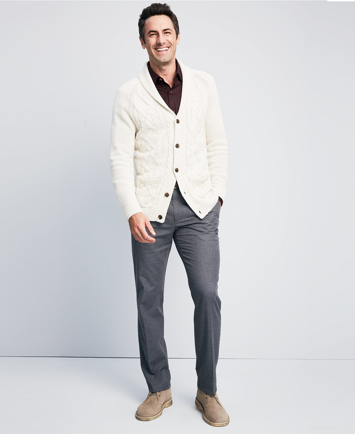 How to Wear a White Cardigan (18 looks) | Men's Fashion
