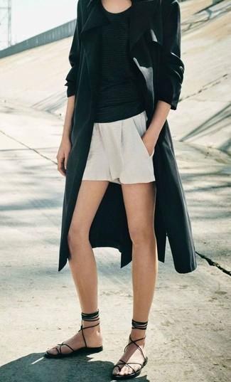 Ruffled Hem Shorts