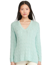 Mint Cable Sweater