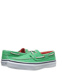 Mint Canvas Boat Shoes