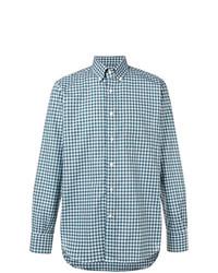 Canali Button Down Check Shirt