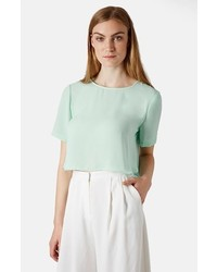 Topshop Pasha Side Split Crop Tee