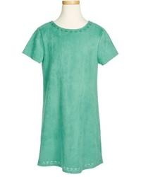 Soprano Girls Laser Cutout Short Sleeve Dress