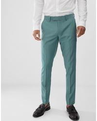 Farah Smart Farah Henderson Skinny Fit Trousers In Green