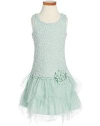 Zunie Venise Lace Drop Waist Dress