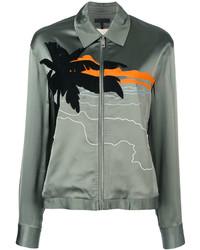 Rag & Bone Beach Embroidered Bomber Jacket