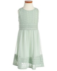 Ruby & Bloom Embroidered Sleeveless Dress