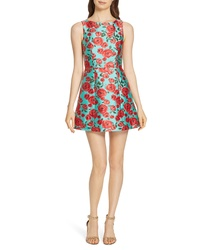 Mint Floral Fit and Flare Dress