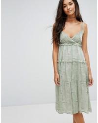 Lost ink midi dress with frills in print medium 3725579