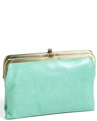 Mint Leather Clutch