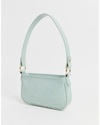 ASOS DESIGN Croc Effect 90s Shoulder Bag