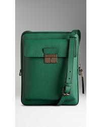 Mint Leather Messenger Bag