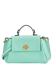 Mint Leather Satchel Bag