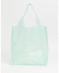 Missguided Clear Shopper Bag In Mint