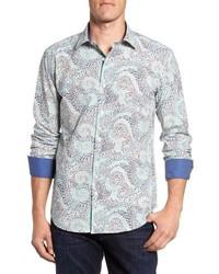 Mint Print Long Sleeve Shirt
